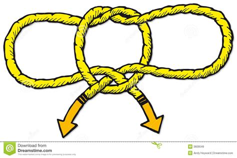 Redknot Manacle handcuff knot royalty free stock images image 3609549