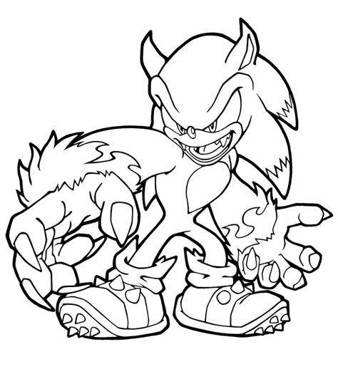 Sonic The Werehog Coloring Pages sonic the werehog coloring pages coloringstar