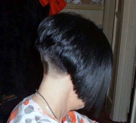 pic of back of shaved aline ahaircuts bobbed hairstyles on pinterest bobs shaved nape and