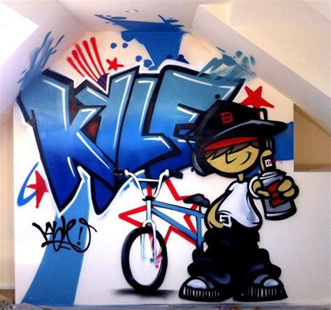 pin  kids bedroom graffiti