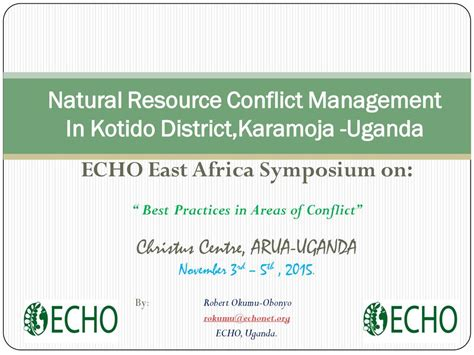 natural resources conflict and conflict resolution east africa resources from past events echocommunity org