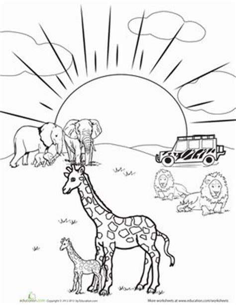 safari person coloring page kindergarten animals worksheets safari coloring page
