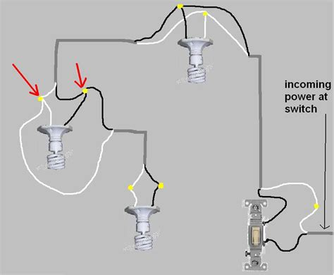 wiring 3 lights to one switch diagram three wire light
