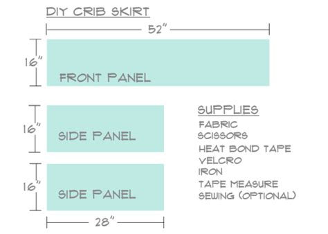 crib bed skirt measurements diy make your own crib skirt
