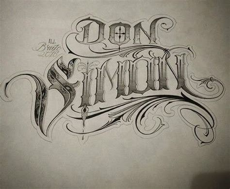 chicano tattoo lettering design chicano lettering pinteres