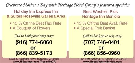 Roseville Ca Hotel S Day Package Special by Mother S Day Special Save 15 With Special Gift