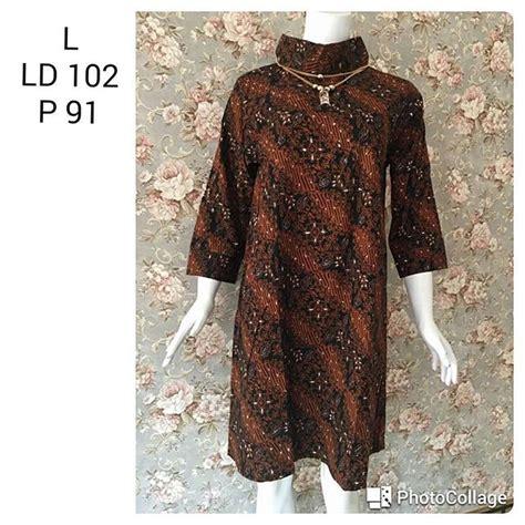 Batik Tunik Parang Sogan tunik batik cap sogan motif parang katun halus 18 2