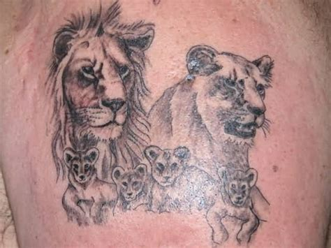 lion family tattoo gallery image gallery lion chest tattoo family