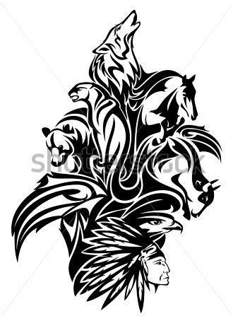 tribal chief tattoo only best 25 ideas about tribal animal tattoos on
