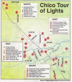 chico california map lights display at 1518 e lassen ave