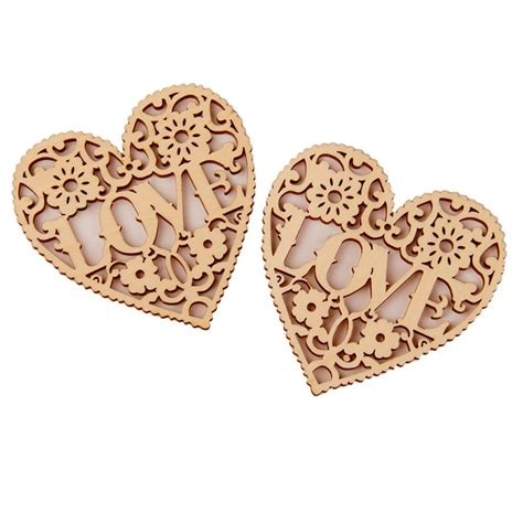 Decorative Wooden Shapes by 10x New Laser Cut Decorative Unfinished Wooden