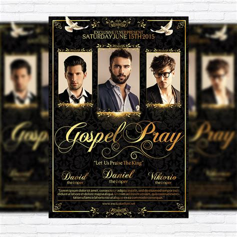 gospel flyer template gospel pray premium flyer template cover