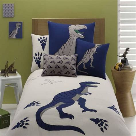 embroidered gray dinosaur bedding set dinosaur bedding