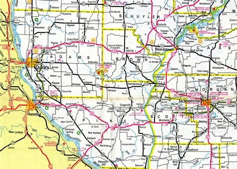 County Illinois Search Interstate Guide Interstate 172 Illinois