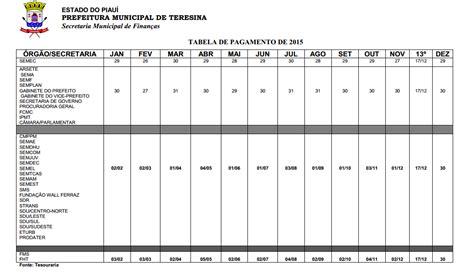 tabela de pagamentos dos servidores municipais de recife 2016 a tabela anual de pagamento dos servidores municipais j 225