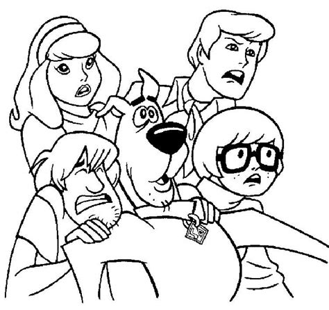 coloring page kids com all scared but scooby coloring page kids coloring page