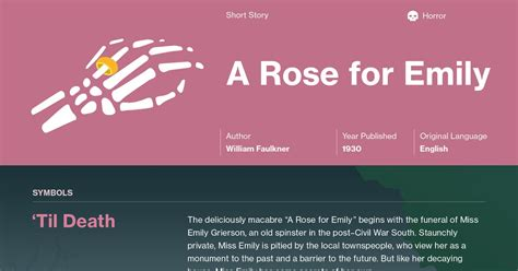 a rose for emily essays the bloody pit of horror a rose for emily