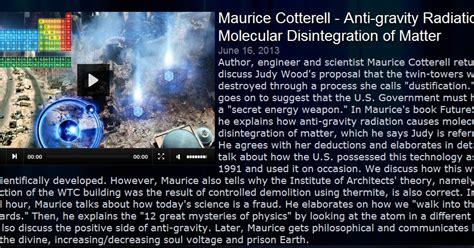 gravity matter mami s maurice cotterell anti gravity radiation