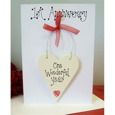Personalised Wedding Anniversary Cards Uk by 1st Anniversary Personalised Card