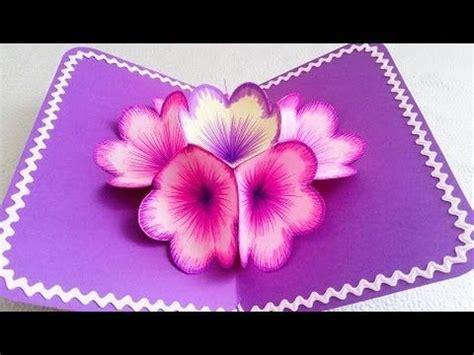 3d Butterfly Card Template by Diy 3d Flower Pop Up Card 3d Flower And
