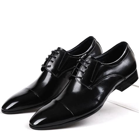 italian leather cap toe oxford lace up formal dress shoes