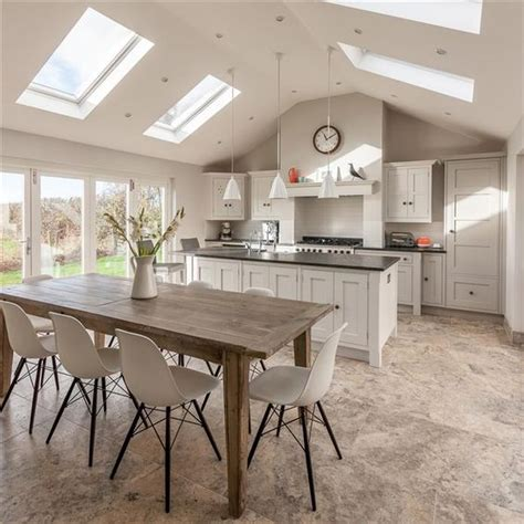 farmhouse kitchen table uk kitchen design photos 30 spacious and airy open plan kitchen ideas digsdigs