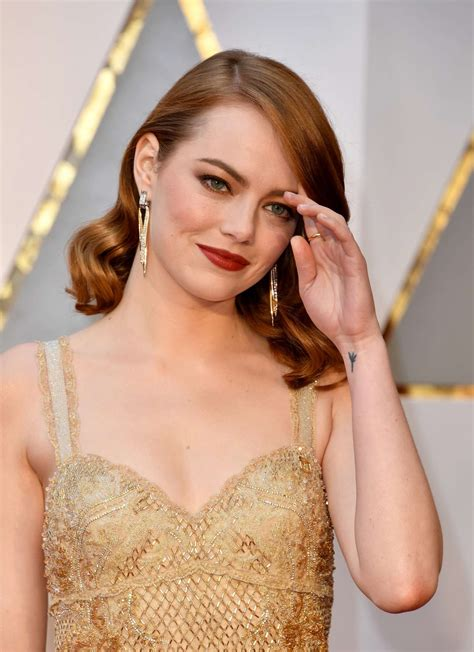 emma stone tattoo 2017 academy awards 03 gotceleb