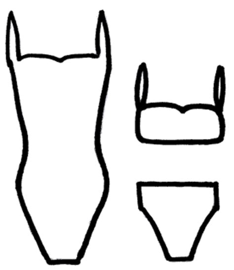 coloring page bathing suit full page image with words free picture exchange