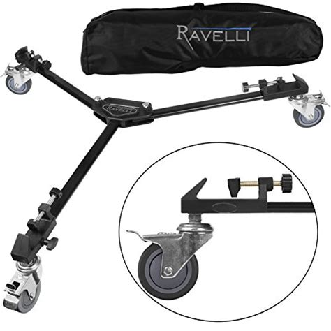 ravelli atd professional tripod dolly for camera photo