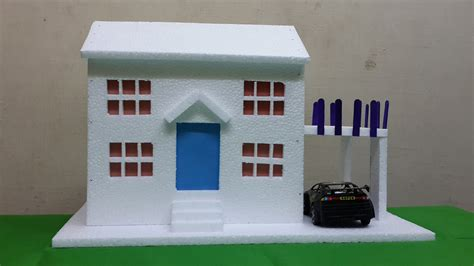 how do you make a house how to make thermocol bungalow house model school project