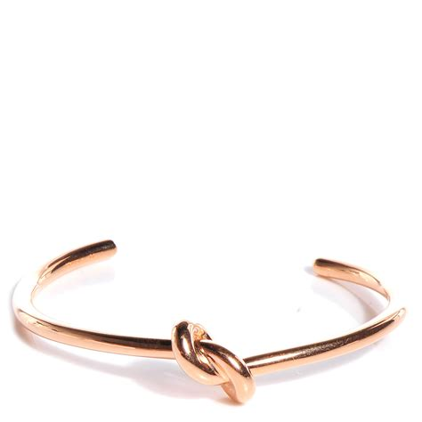 CELINE Knot Medium Bracelet Rose Gold 85839