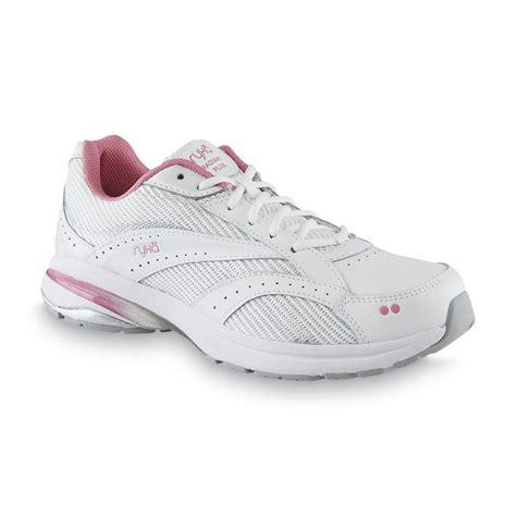 ryka radiant walking shoes ryka s radiant plus white silver pink walking shoe