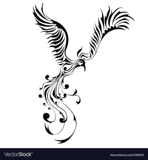 phoenix tattoo royalty free vector image vectorstock