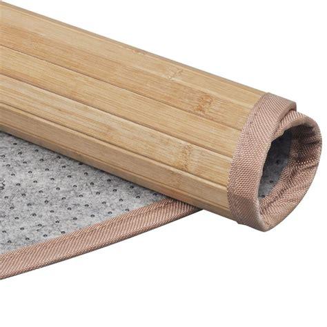 tappeto in bambu tappeto rotondo in bamb 249 marrone 180 cm vidaxl it