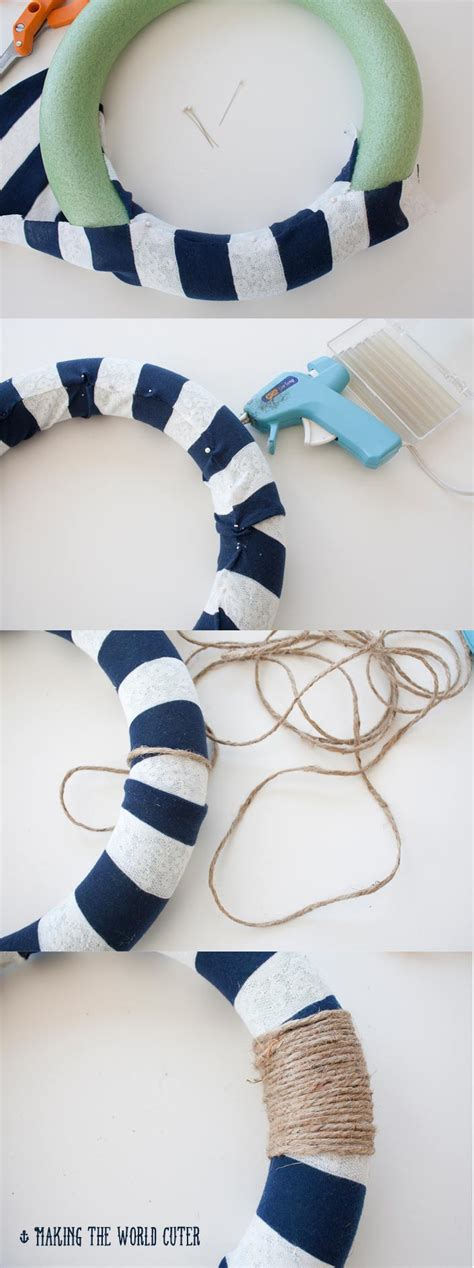mi themes create nautical baby shower diy wreath nautical decor crafting