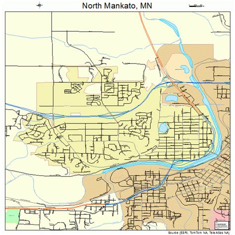 mankato minnesota map 2747068