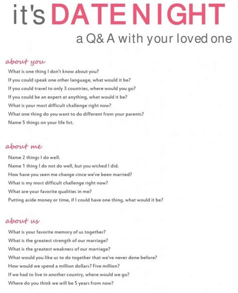 printable relationship quiz love these great questions to use on my next date night