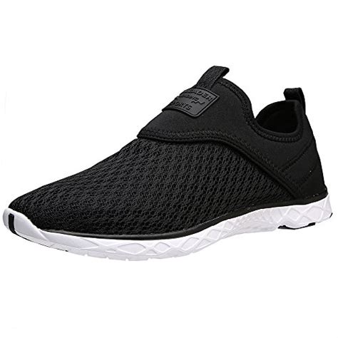 slip on athletic shoes mens aleader mens slip on athletic water shoes black gray 10 5