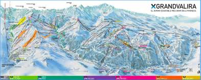 Desk Mount Grandvalira Plans Des Pistes
