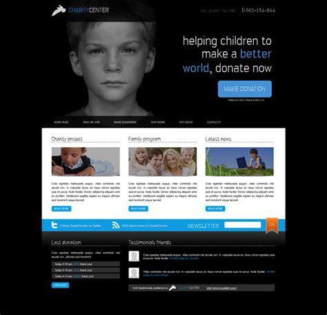 Simple Clean Charity Website Template Templates Perfect Society Website Templates Free
