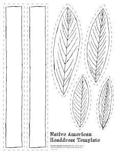 indian headdress template american headdress template crafts
