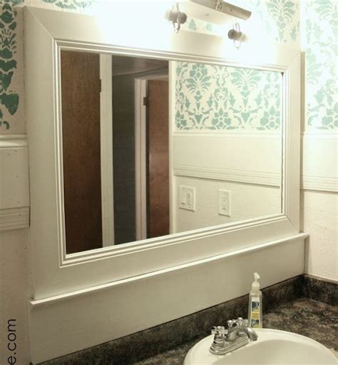 framing your bathroom mirror frame your bathroom mirror renovations pinterest