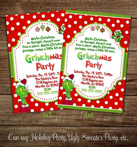 printable christmas party invitation free templates free