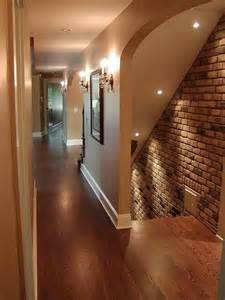 exposed brick wall lighting beautiful brick accent wall basement ideas pinterest entry stairs beautiful and brick