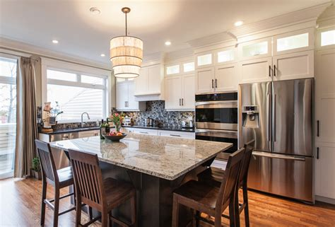 upscale kitchen cabinets my houzz upscale townhome with a view in downtown st