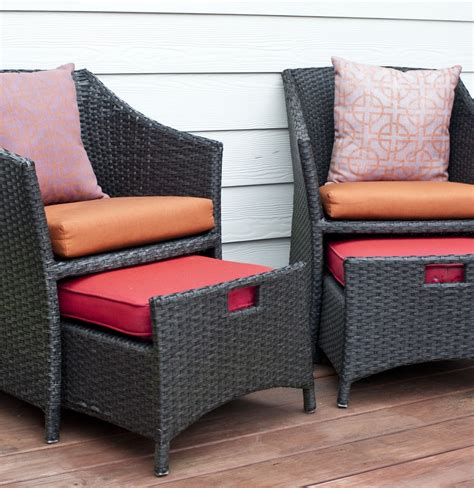 wicker chairs with ottoman underneath wicker patio chairs and pull out ottomans ebth
