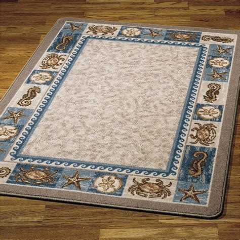 Nautical Runner Rug Coffee Tables Style Floor Rugs Coastal Living Area Rugs House Rugs Indoor Compass
