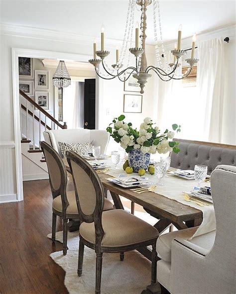 white dining room table with bench and chairs best 25 farmhouse table chairs ideas on