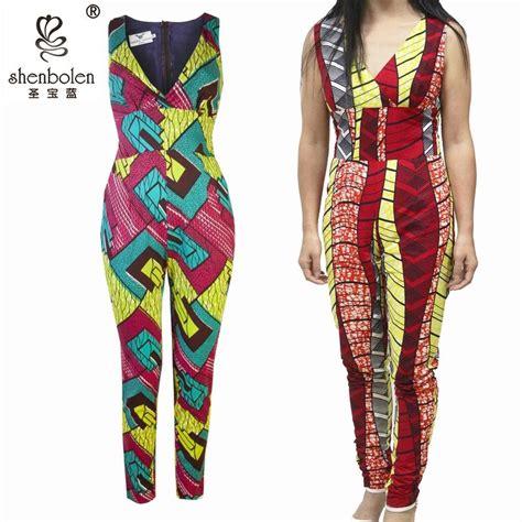 Jumpsuit Overall Batik Murah Jumpsuit Kece 2017 Africa Batik Fabric Jumpsuit Overall