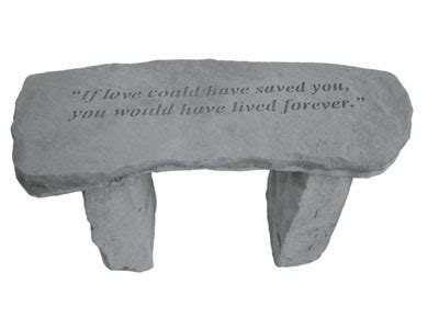 pet memorial bench made in the usa of cast stone pet memorial bench